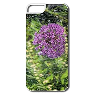 IPhone 5 5S Cases, Onion Plant Rain Flower White Cases For IPhone 5 5S