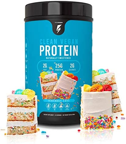 Inno Supps Clean Vegan Protein – Plant Based, Vegan, No Artificial Sweeteners, No Gluten, No Dairy. Lactose Free, Low Carbs, Low Fat, No Sugar Added, Soy Free, Non-GMO Birthday Cake