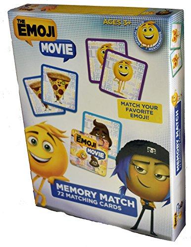 Emoji Movie Memory Matching Card Game 72 emoji cards