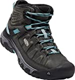 KEEN Women's Targhee II Mid WP Hiking Boot (39 M EU/8.5 B(M) US, Alcatraz/Blue Turquoise)