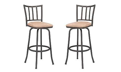 Pleasant Amazon Com 29 Backrest Counter Stool W Microfiber Cushion Dailytribune Chair Design For Home Dailytribuneorg