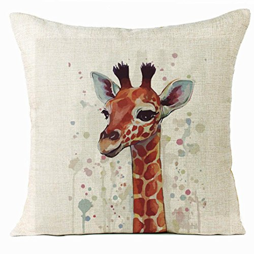Auwer Xmas Christmas Elk Cotton Linen Pillow Case Cushion Cover Sofa Waist Throw Bed Chair Pillowcase Festival Home Decoration 18