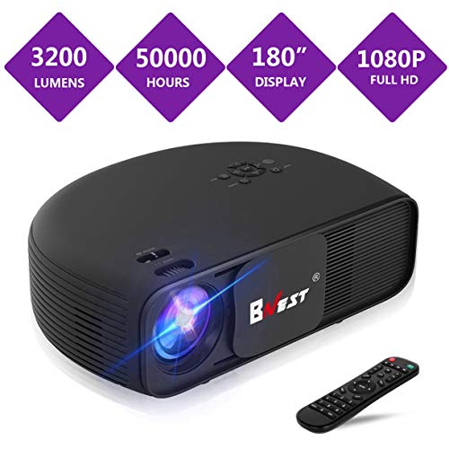 BNEST 3200 Lumen Projector  LED Home Video Projector Video P