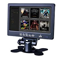 7 inch HD Screen Display,Quimat 1024x600 TFT LCD Monitor with AV Input, for Computer PC DVR Home Office,Compatible with Raspberry Pi 3 2 1 Model B B+ SC7J