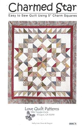 Charmed Star Quilt Pattern, Charm Pack 5