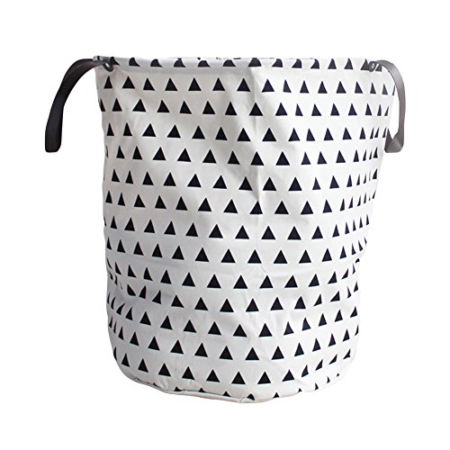 Julvie Heavy Duty and Durable Canvas Storage Laundry Hampers Baskets