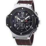 MEGIR Men's Chronograph Military Sports 3ATM Waterproof Gold Stainless Steel Watches MN3002GBN-