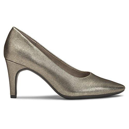 Aerosoles Women's Leather Exquisite dress Pump Silver TwRxawqFY