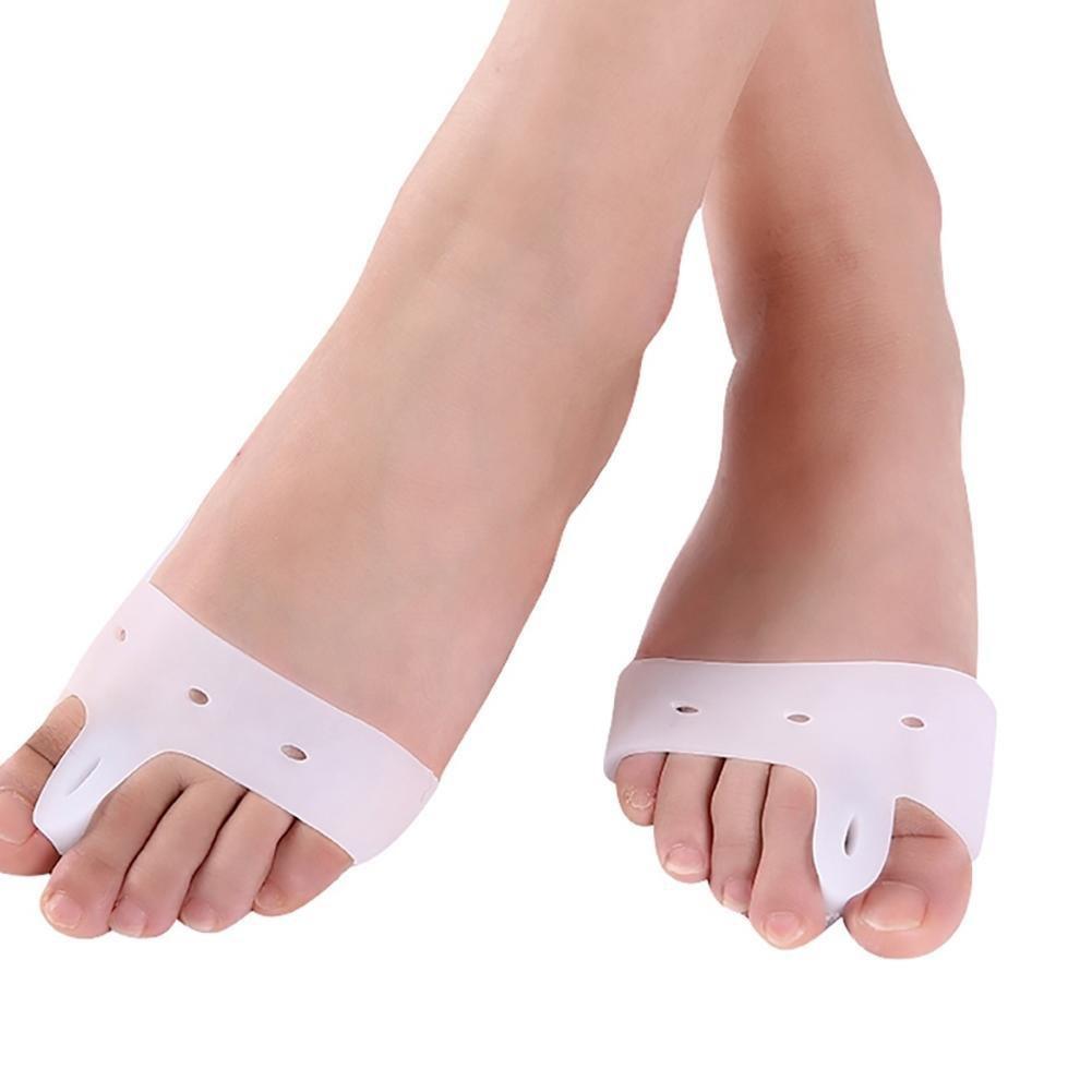 Gracefulvara 1 Pair Silicon Gel Foot Corrector Toe Separator Protector