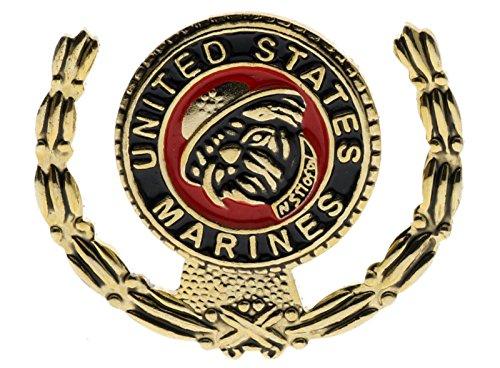 Marine Corps Marines USMC Bulldog Wreath I 3/16 Inch Hat Pin H15842D161
