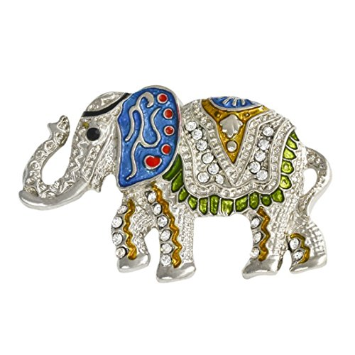 Gloria Trend Stunning Bling Crystal Animal Rhinestone Elephant Pin Brooch