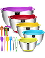 Fungun Stainless Steel Mixing Bowls with Airtight Lids