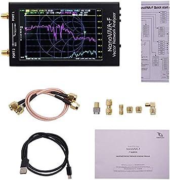 NanoVNA-F Vector Network Analizador de antena 10K-1500MHz 4,3