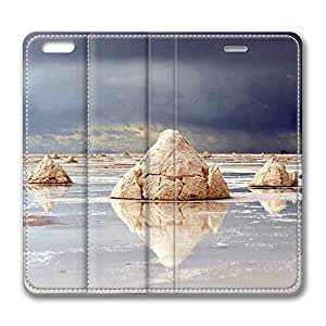 Brain114 6 Plus, iPhone 6 Plus Case, iPhone 6 Plus 5.5 Case, Rocks Reflecting In The Water PU Leather Flip Protective Skin Case for Apple iPhone 6 Plus 5.5