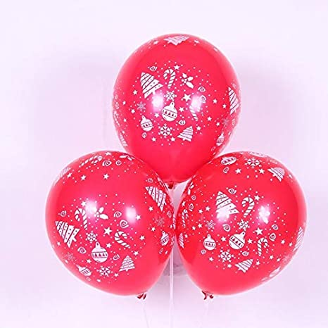 50 Merry Christmas Latex Balloons Gold Silver Black Decoration helium baloon