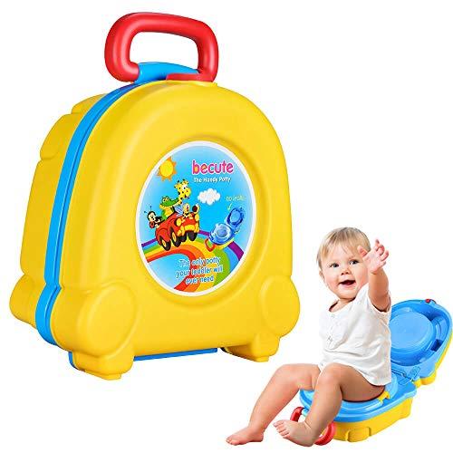 The Latest Baby Toilet Cute Portable Cartoon Travel Potty Car Squatting Children Potty Training Girl Boy Toilet Toilet Outdoor (Yellow)