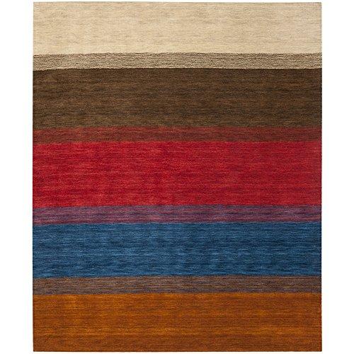 Safavieh Himalaya Collection HIM581A Handmade Orange and Multi Premium Wool Area Rug (8' x 10') by Safavieh
