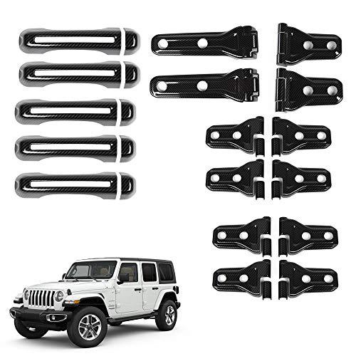 2018 Jeep wrangler JL Carbon Fiber Door Hinge Cover Tire Hinge cover Handle Cover Hood Hinge Cover ()
