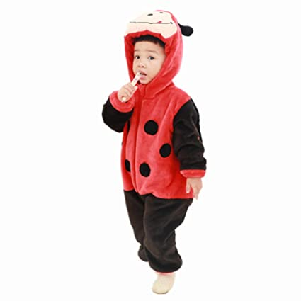 1ee69a89d0a3 Image Unavailable. Image not available for. Color  KKING Christmas Newborn  Baby Fleece Animal Hooded Romper