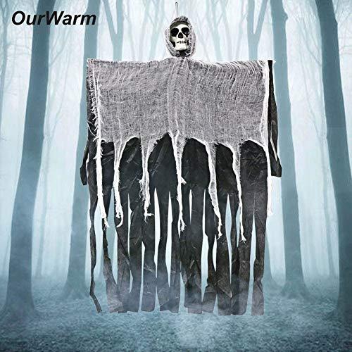 Hanging Ghost for Haunted House   Hanging Grim Reaper Horror Prop Home Door   Halloween Decorations (1 Piece, 100cm, -