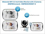 Motorola WiFi 3.5 Inch Video Baby Monitor - MBP843CONNECT (Two Cameras)