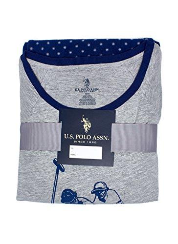 U.S. Polo Assn. Womens Long Sleeve Fleece Pajama Top and Pants Sleepwear Set