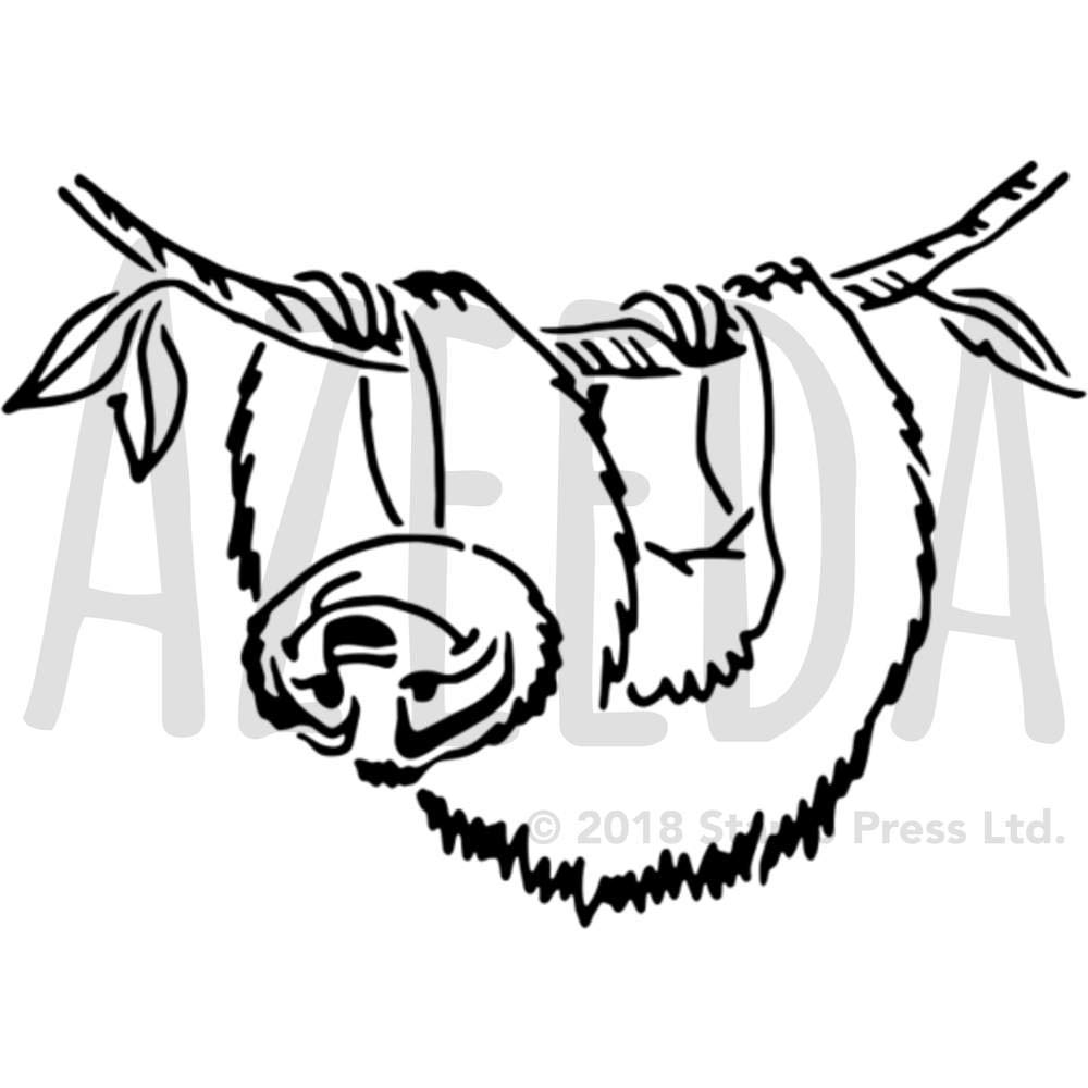 Azeeda A5 「ナマケモノ」壁ステンシル/テンプレート (WS00036312)   B07H2K539B