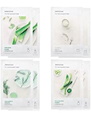 Innisfree My Real Squeeze Mask - Best 4 Type Combo Mask Pack of 8 (Cucumber, Tea Tree, Aloe, Rice)