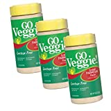 Pack of 3 Go Veggie Lactose Free Cheese Alternative, Grated Parmesan Flavor (3, 8oz Containers)
