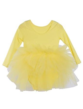 6a7ac0362341 Amazon.com  Kids Girls Ballet Tutu Dress Gymnastics Long Sleeve 4 ...