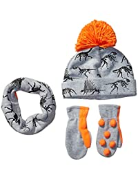 Amazon Brand - Spotted Zebra Boys Fleece Hat Mittens Cold Weather Accessories Sets