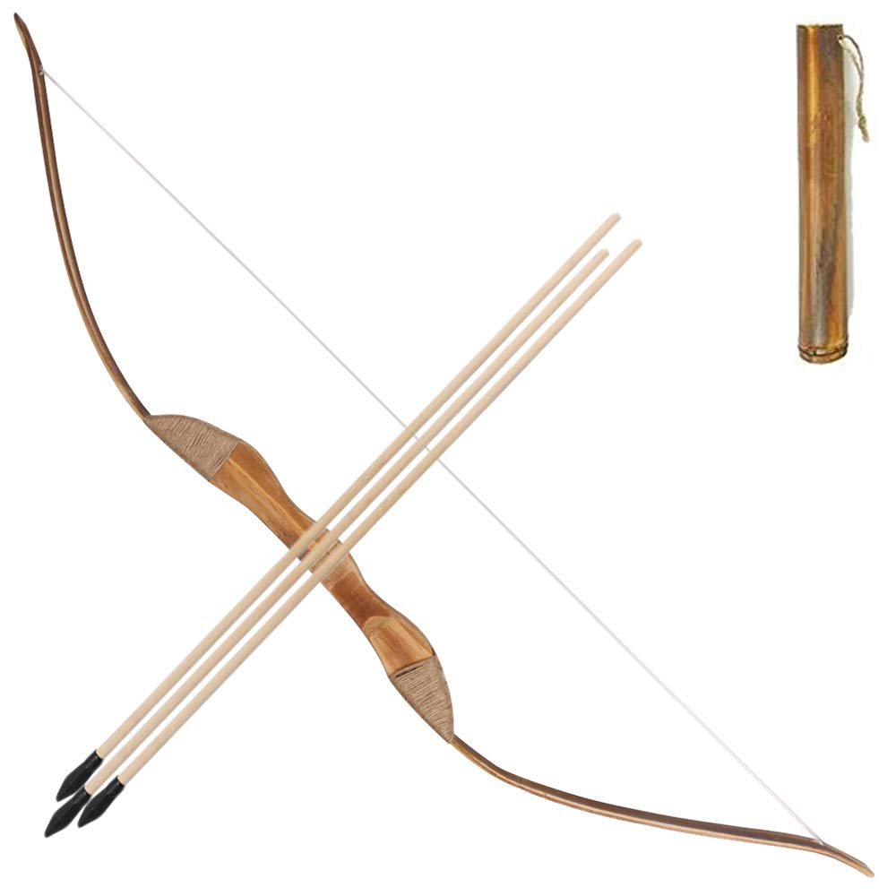 Wooden Bow and Arrows