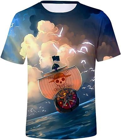 WCYL Unisex impresión 3D Camiseta de Manga Corta Camiseta gráfica Casual Hombres y Mujeres Verano Cuello Redondo Camisa Deportiva Suave y Transpirable Suave One Piece: Amazon.es: Ropa y accesorios