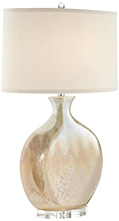 Marci ivory drip round ceramic table lamp amazon marci ivory drip round ceramic table lamp aloadofball Images