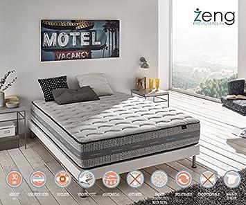 Zeng - Colchón Visco Luxury Imperial con muelles ensacados 200x190x30 cm: Amazon.es: Hogar