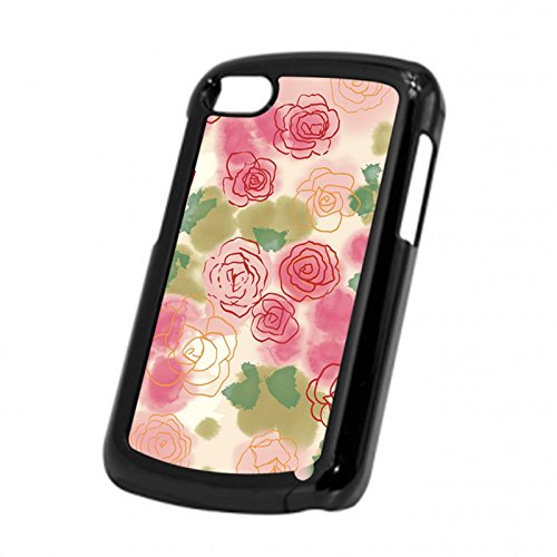 Case Fun Paper Roses Snap-on Hard Back Case Cover for Blackberry Q10