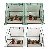 CO-Z Portable Greenhouse Mini Hot House with PE and Non-Woven Cover, Waterproof Cloche Greenhouse and UV Protected Greenhouse Tent, 5.9' L x 3.0' W x 3.0' H