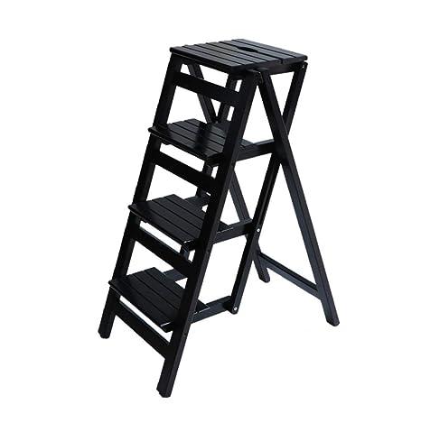 Super Amazon Com Wooden Step Ladders Folding Stool Solid Wood Beatyapartments Chair Design Images Beatyapartmentscom