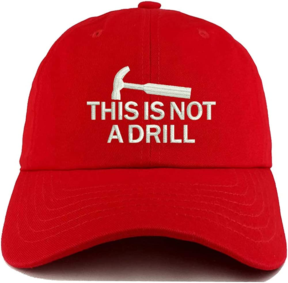 Red Baseball Hats for Men Dad Caps with Embroidery Snapback Hat This is Not a Drill