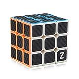 D-FantiX Speed Cube 3x3 Carbon Fiber Sticker Puzzle Cube Toys