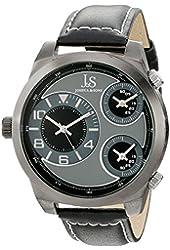 Joshua & Sons Men's JS88BK Analog Display Japanese Quartz Black Watch