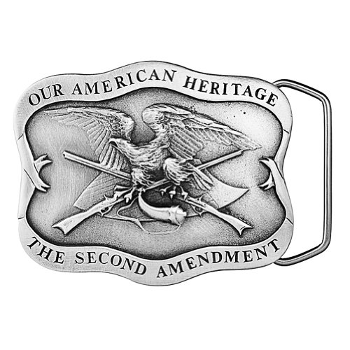 America's 2nd Amendment Belt Buckle 02-X84 ()