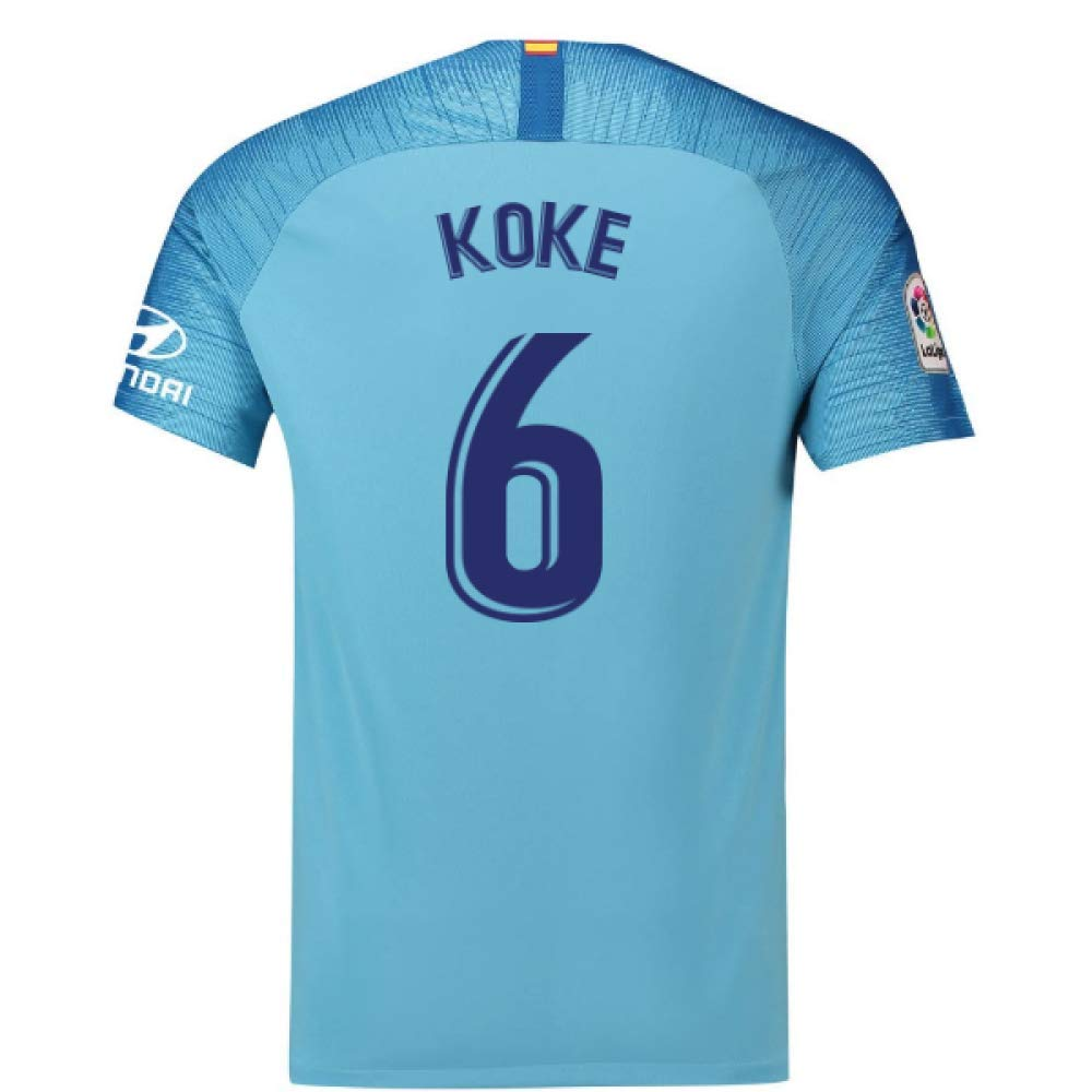 2018-19 Atletico Madrid Away Football Soccer T-Shirt Trikot (Koke 6)