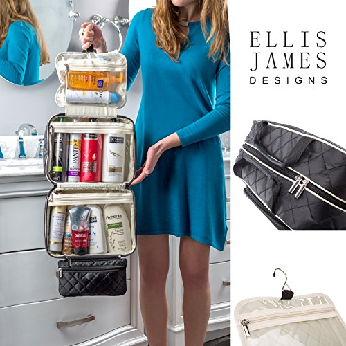 7f85b5eae12ff7 Ellis James Designs Large Travel Toiletry Bag for Women with - Import It All