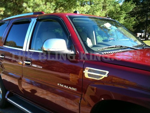 Cadillac Escalade Chrome Fender Vents Port Holes (Cadillac Escalade Fender Trim)