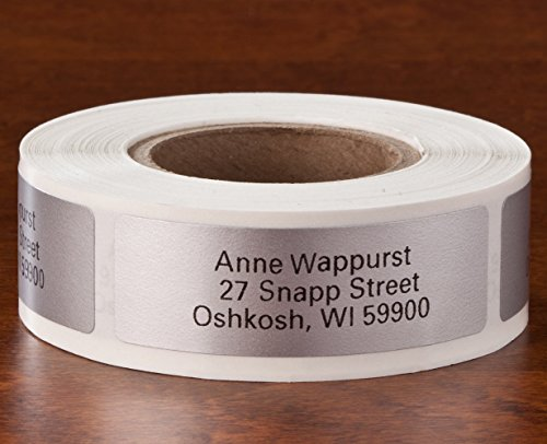 Personalized Self Stick Address Labels 250 - Silver