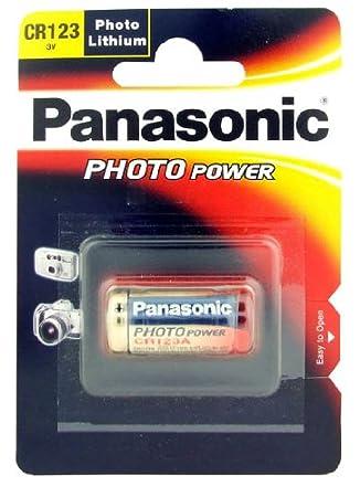 Panasonic - Batería de litio CR123 3V - CR123: Amazon.es ...