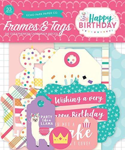 Echo Park Paper Company Happy Birthday Girl フレーム&タグ Ephemera