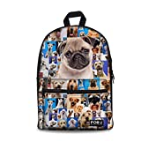 FOR U DESIGNS Practical Cotton Backpack for Students Soft Daily Hiking Backpack
