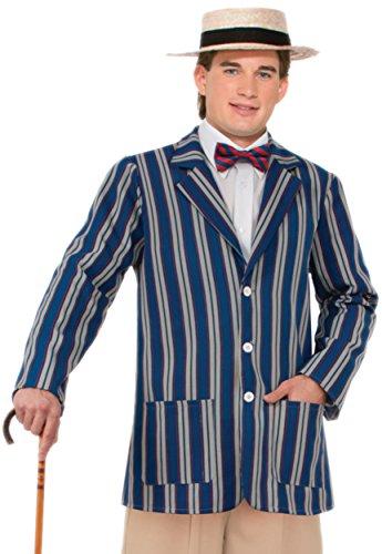 Adult Boater Costumes (Forum Novelties Men's Roaring 20's Boater Jacket, Multi, Standard)